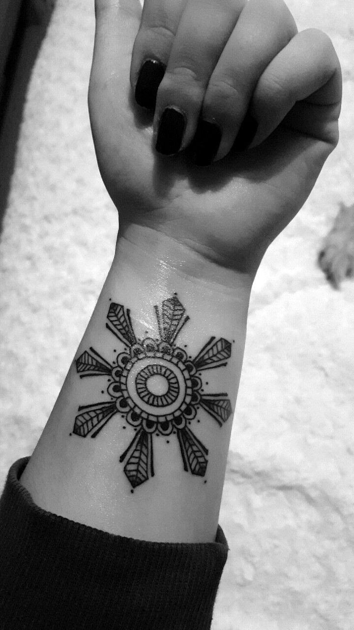 afd0a39f69b0a My second tattoo. Mix between mandala and the filipino sun | tattoo ...