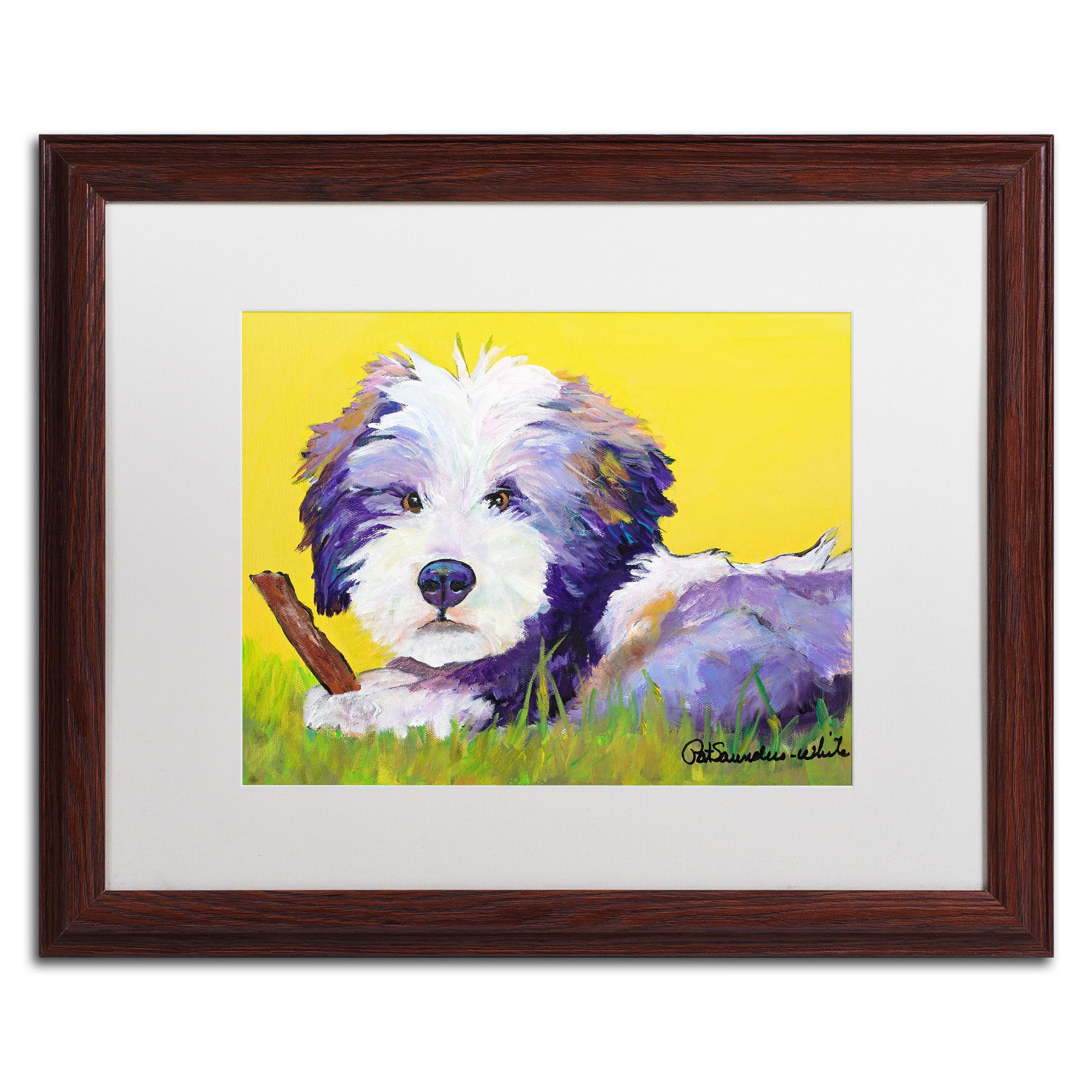 Chew Stick by Pat Saunders-White Framed Painting Print