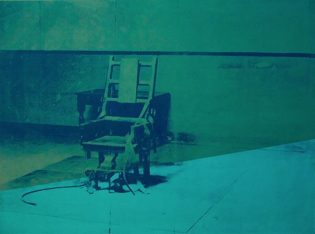 Electric Chair In Blue Electric Chair Andy Warhol Pop Art
