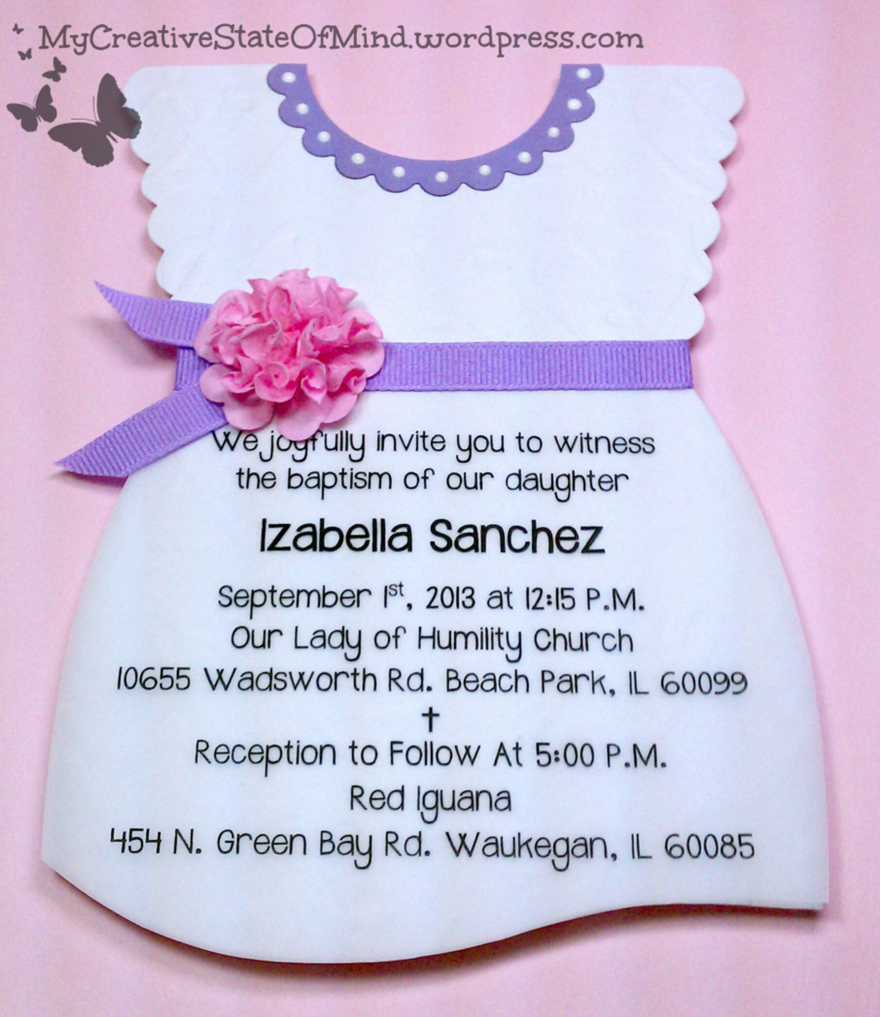diy baptism invitation kits baptism invitations pinterest
