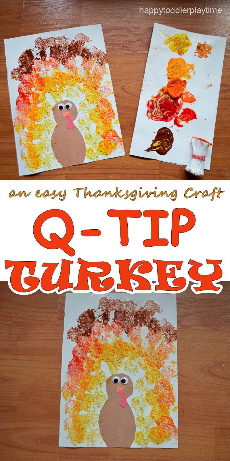 BUNDLED Q-TIP TURKEY CRAFT