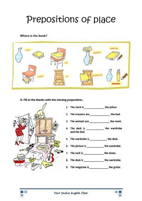 Preposition Printable Worksheets | English prepositions ...