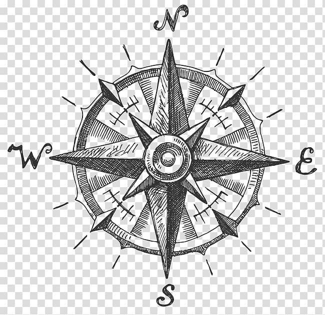 Compass Logo North Compass Rose Ink Compass Art Compass Drawing Mandala Compass Tattoo