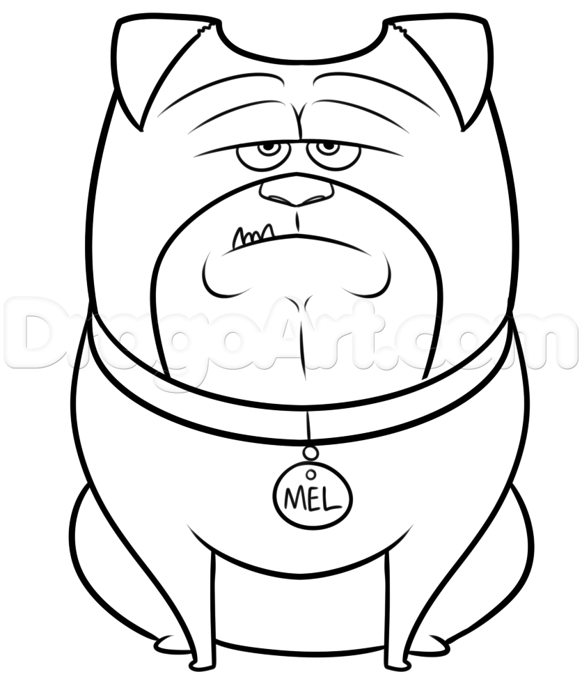 now you can go ahead and color in your drawing of mel from the