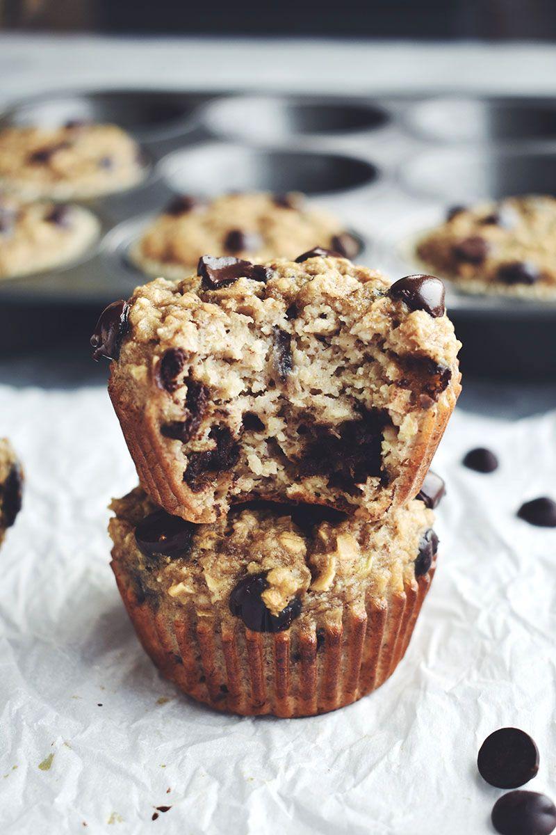 Chocolate chip banana oat muffins gluten free recipe