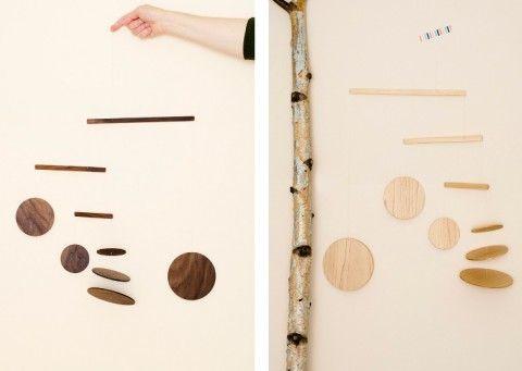 Frazier + Wing Sandro wood modern mobiles