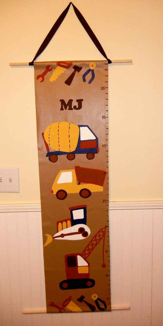 Construction Growth Chart Hand Painted Fashion Pinterest