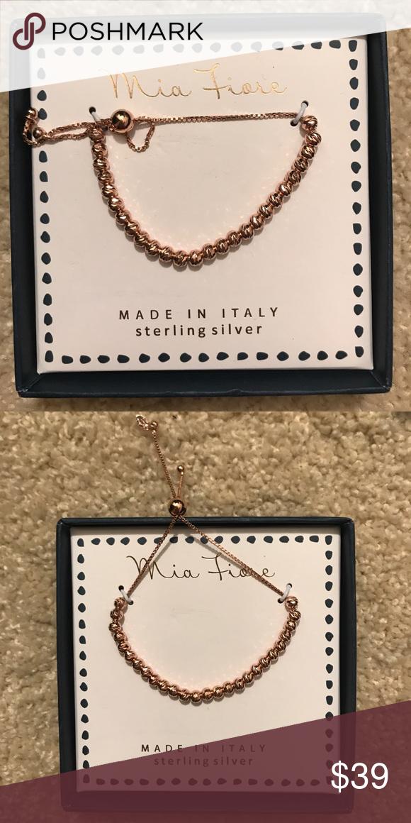 Mia Fiore Sterling Silver Adjustable Bracelet Jewelry bracelets
