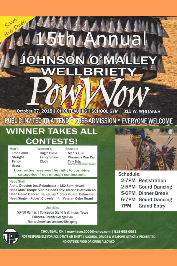 15th Annual Johnson O'Malley Wellbriety Powwow (2018) | Pow