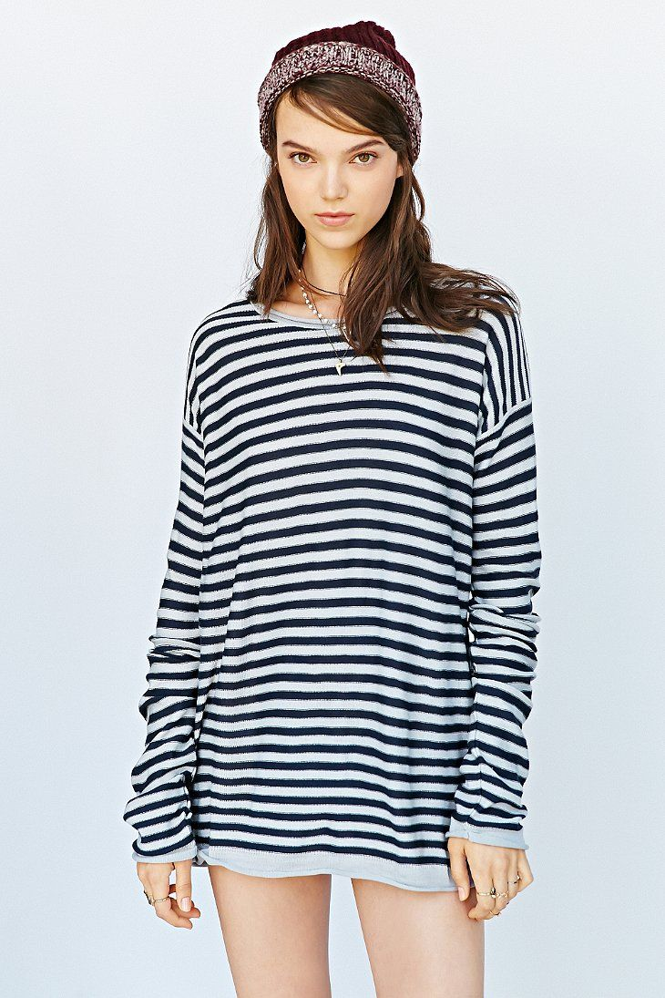 BDG Super Striped Tunic Top - Urban Outfitters
