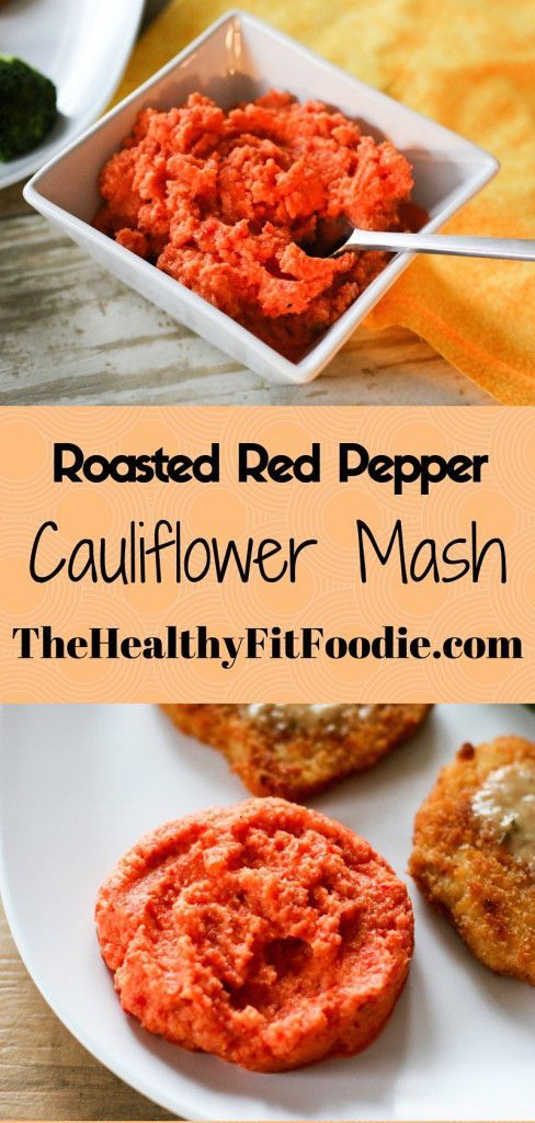 Today I decided to put a spin on my normal cauliflower mash recipe to make this Roasted Red Pepper Cauliflower Mash.
