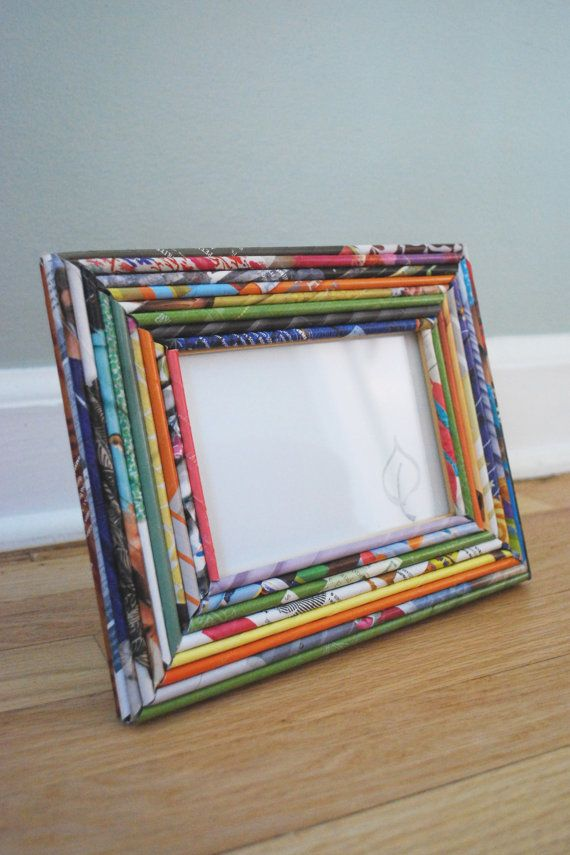 Created From A Recycled Frame And Bright Colored Hand Rolled