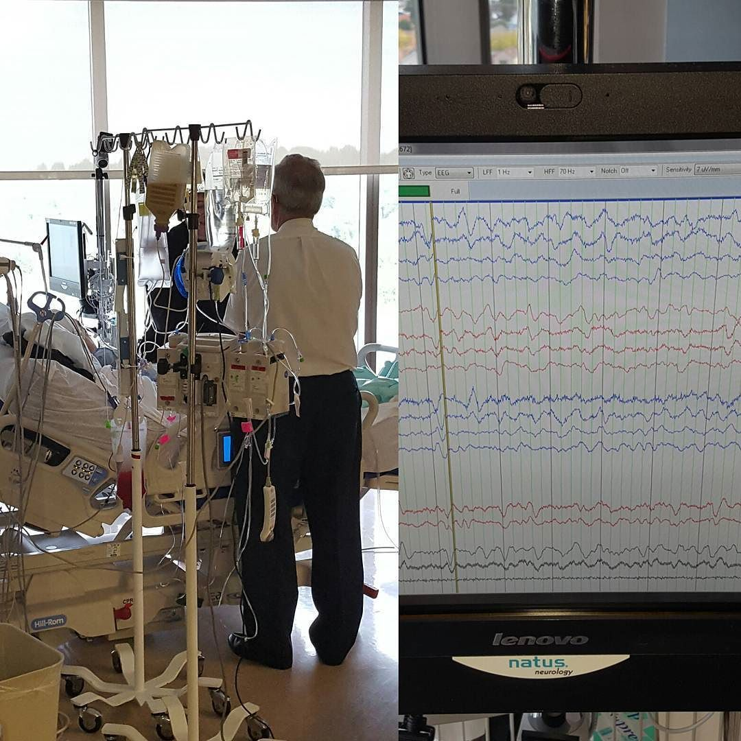 No news to speak of.  EEG attached to monitor brain activity.  Doing as well as can be expected.  No worsening.