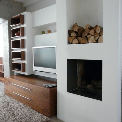 Living Room Box Shelving Design, Pictures, Remodel, Decor and Ideas