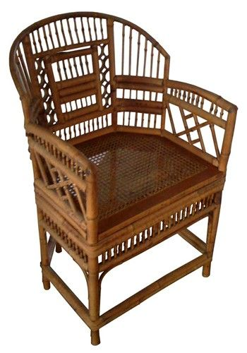 Chinese Chippendale vintage bamboo chair | Living Room ...