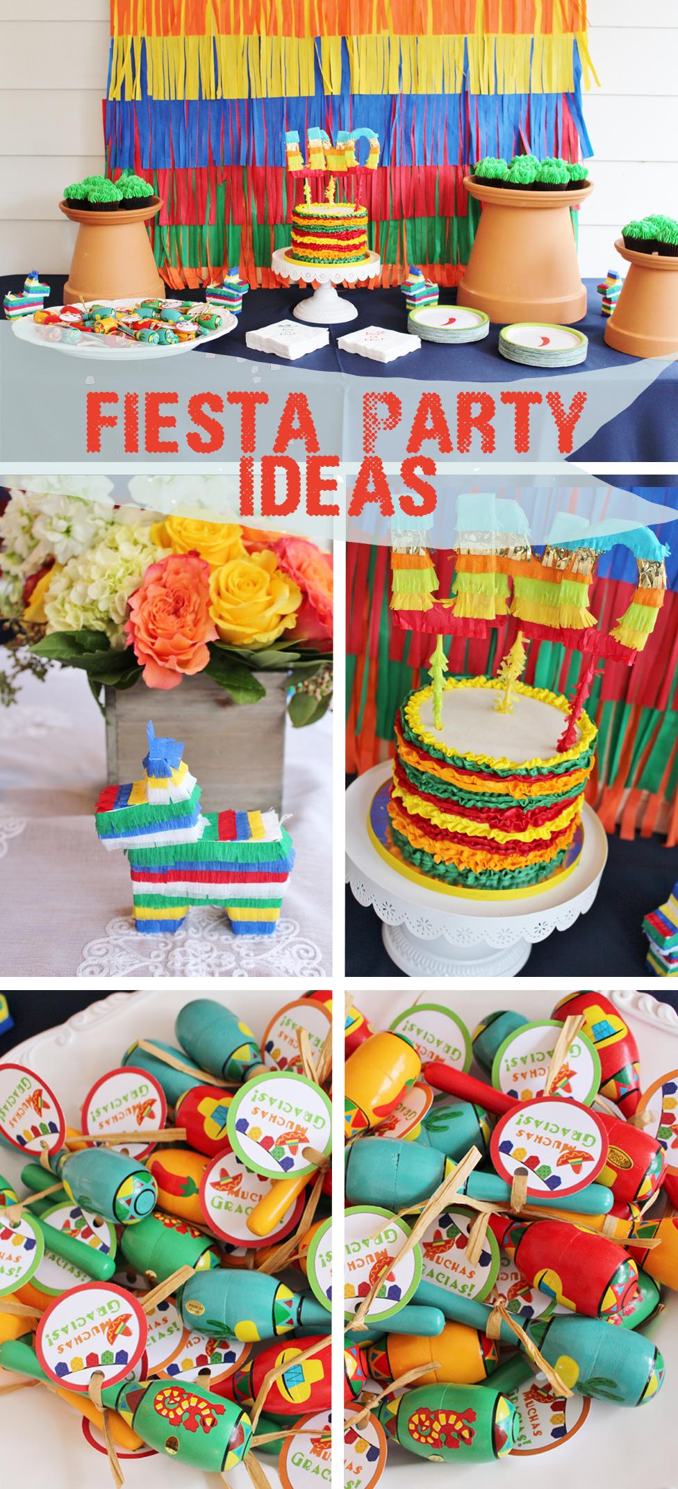 fiesta themed birthday fiesta party ideas pinata themed