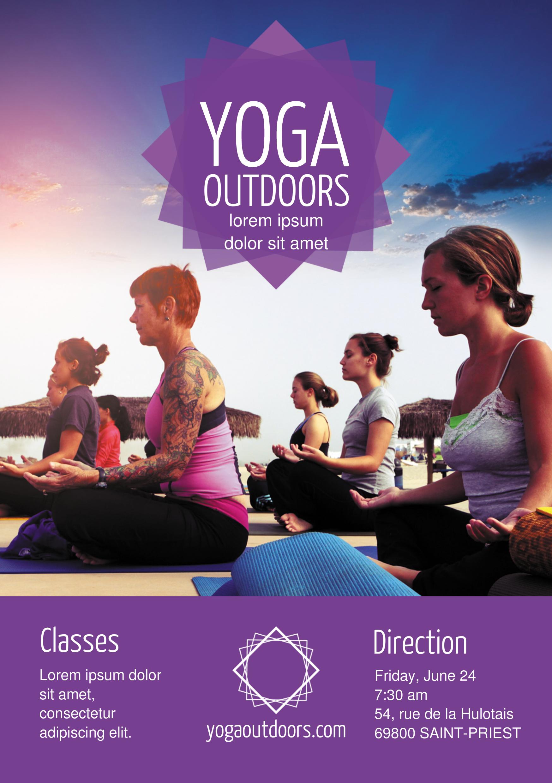 Yoga A5 promotional flyer. http://premadevideos.com/a5-flyer ...