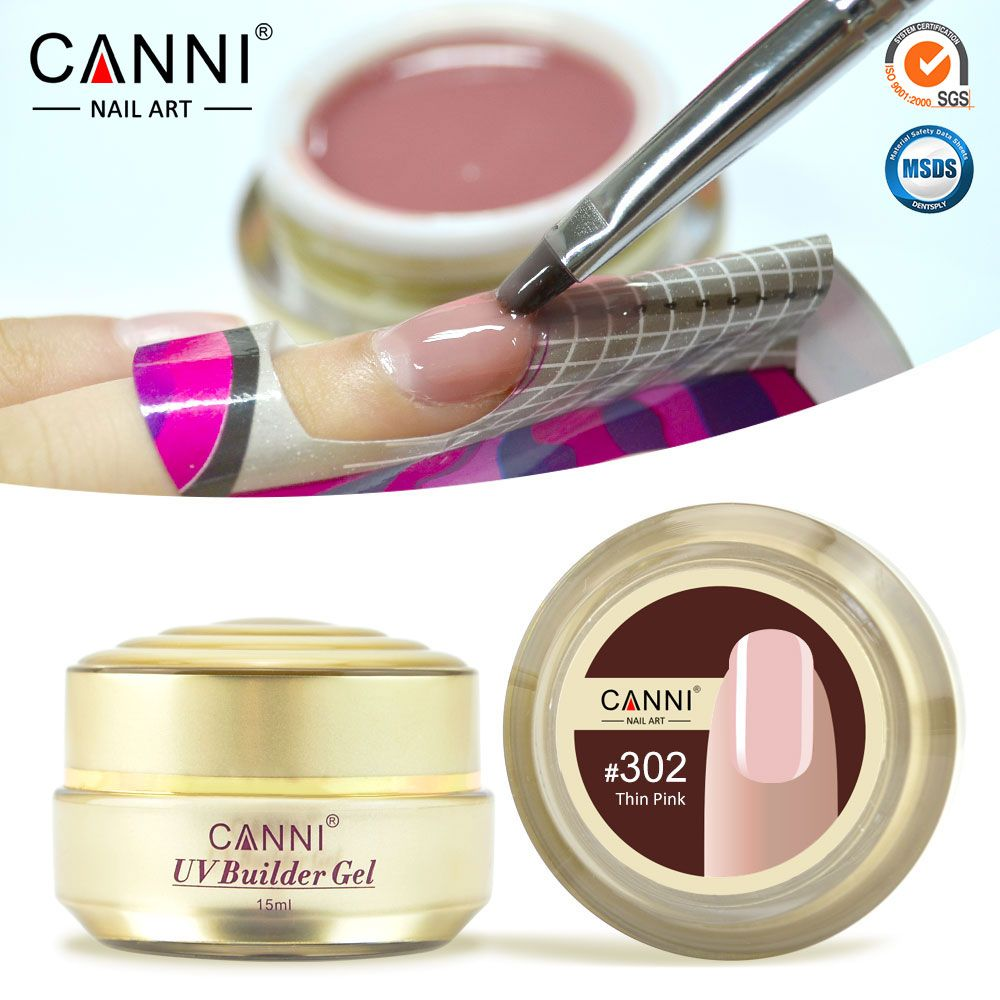50951 CANNI Nail Art Beauty Gel 10 Colors Semi Transparent Builder Extension Camouflage