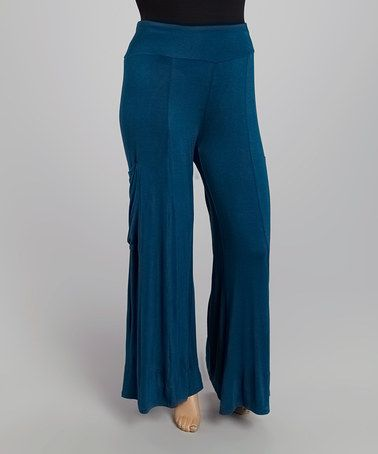 Love this Teal Pocket Palazzo Pants - Plus by CANARI on #zulily! #zulilyfinds