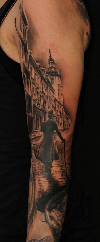 bbb646e03 Men Full Sleeve Tattoos Black White | Tattoos for Men | Victorian ...