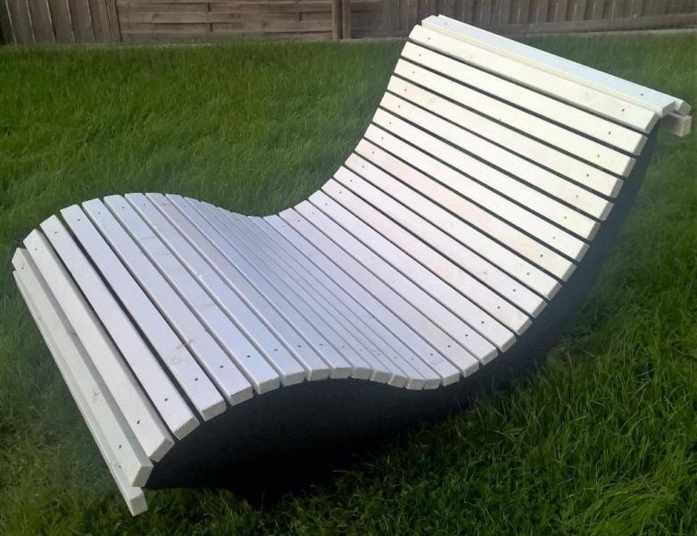 Verkaufe Hier Eine Von Mir Selbst Gestaltete Und Handgefertigte Wellenliege Zum Entspannen Dank Ihrer Breite Von 1 00 M Konnen Outdoor Mobel Gartenliege Garten