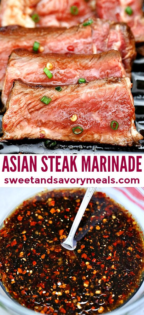 Asian Steak Marinade [Video] - Sweet and Savory Meals