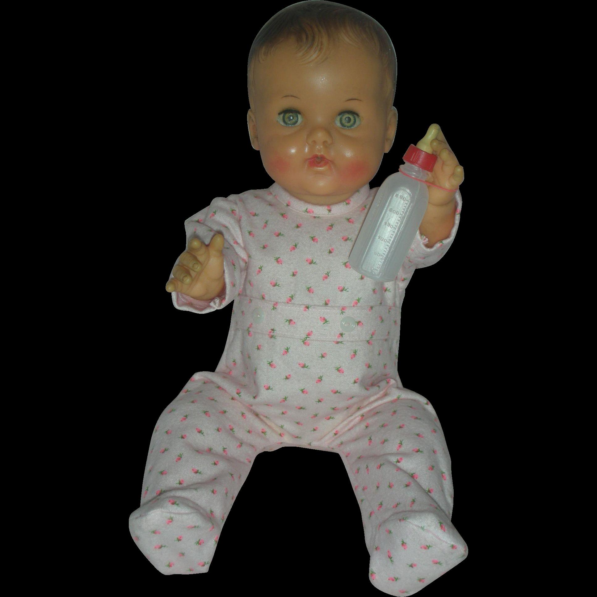 Rare Vintage Constance Bannister Drink And Wet Vinyl Baby Doll Vinyl Baby Dolls Vintage