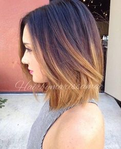 30 Simple And Easy Hairstyles For Straight Hair Thick Hair Styles Balayage Straight Hair Ombre Bob Hair