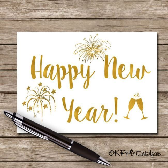 create happy new year greeting cards sample images free ...