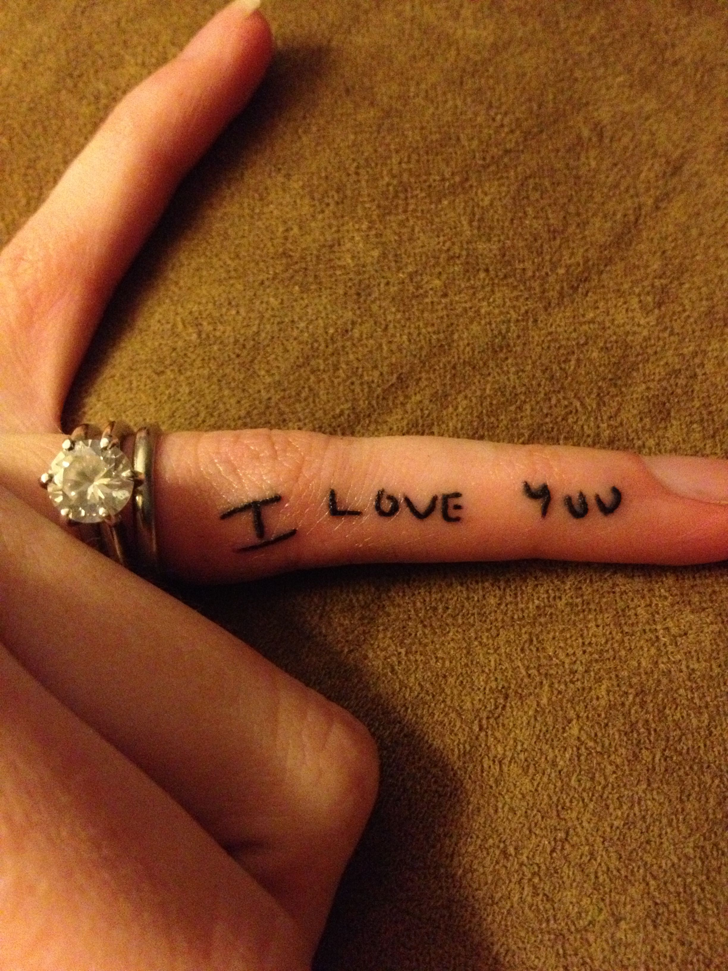 Pin By Crystal Dempsey On Our Love Story Love Yourself Tattoo Hand Written Tattoos Handwriting Tattoos