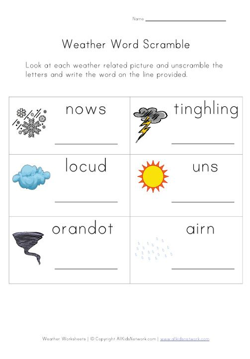 Weather Worksheet Our English Site weather – Weather Worksheets for First Grade