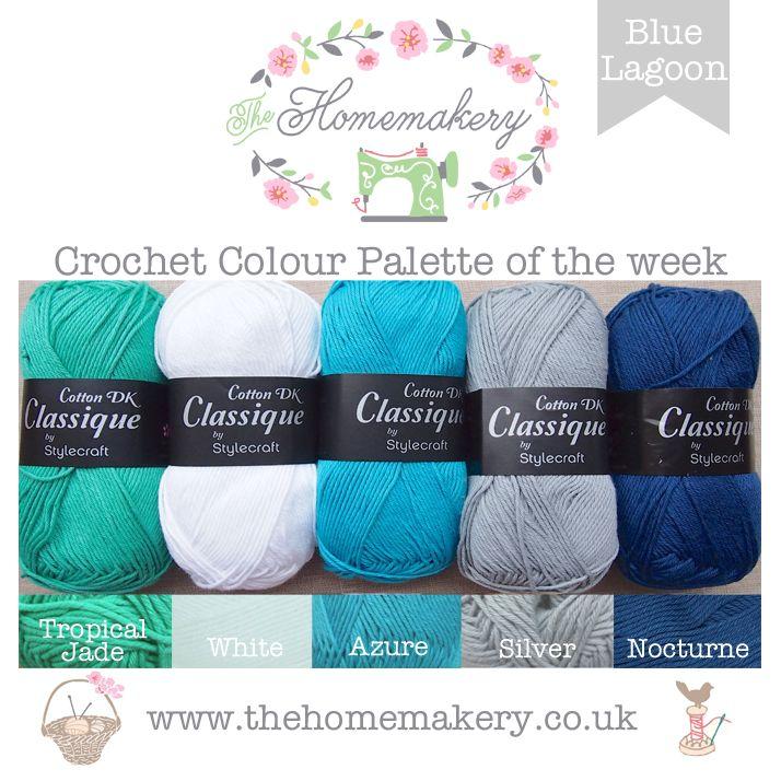 Crochet Colour Palette Blue Lagoon The Homemakery Blog Yarn Color Combinations Yarn Colors Yarn