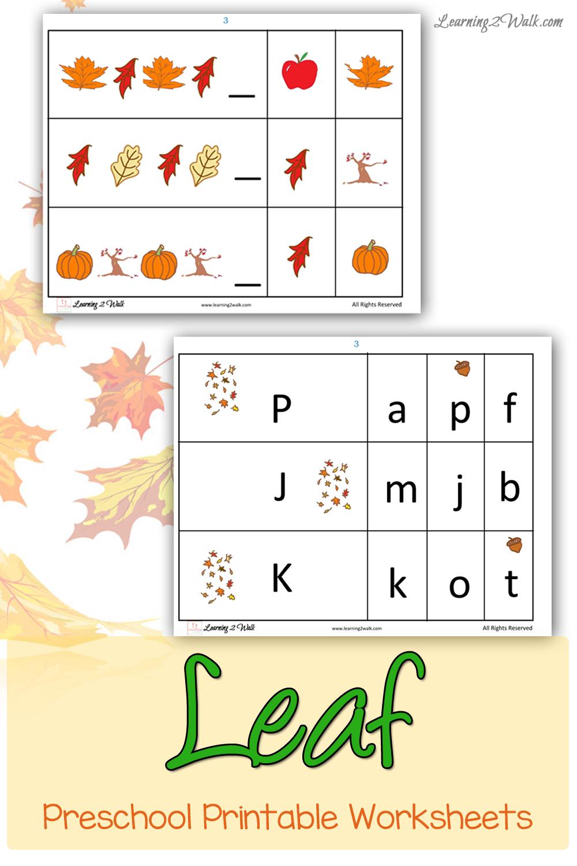 Free Fall Leaf Preschool Printable Worksheets Printable Preschool Worksheets Autumn Preschool Printables Fall Leaves Preschool [ 1500 x 1000 Pixel ]