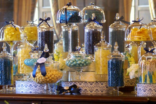 Candy Bar- navy and yellow