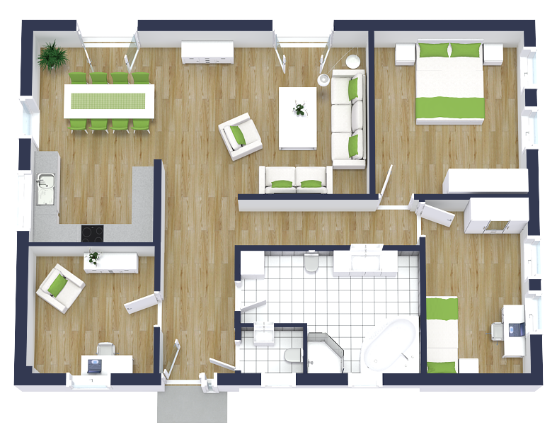 Property Photographers Earn More With 3d Floor Plans Bungalow Floor Plans House Plans Floor Plans