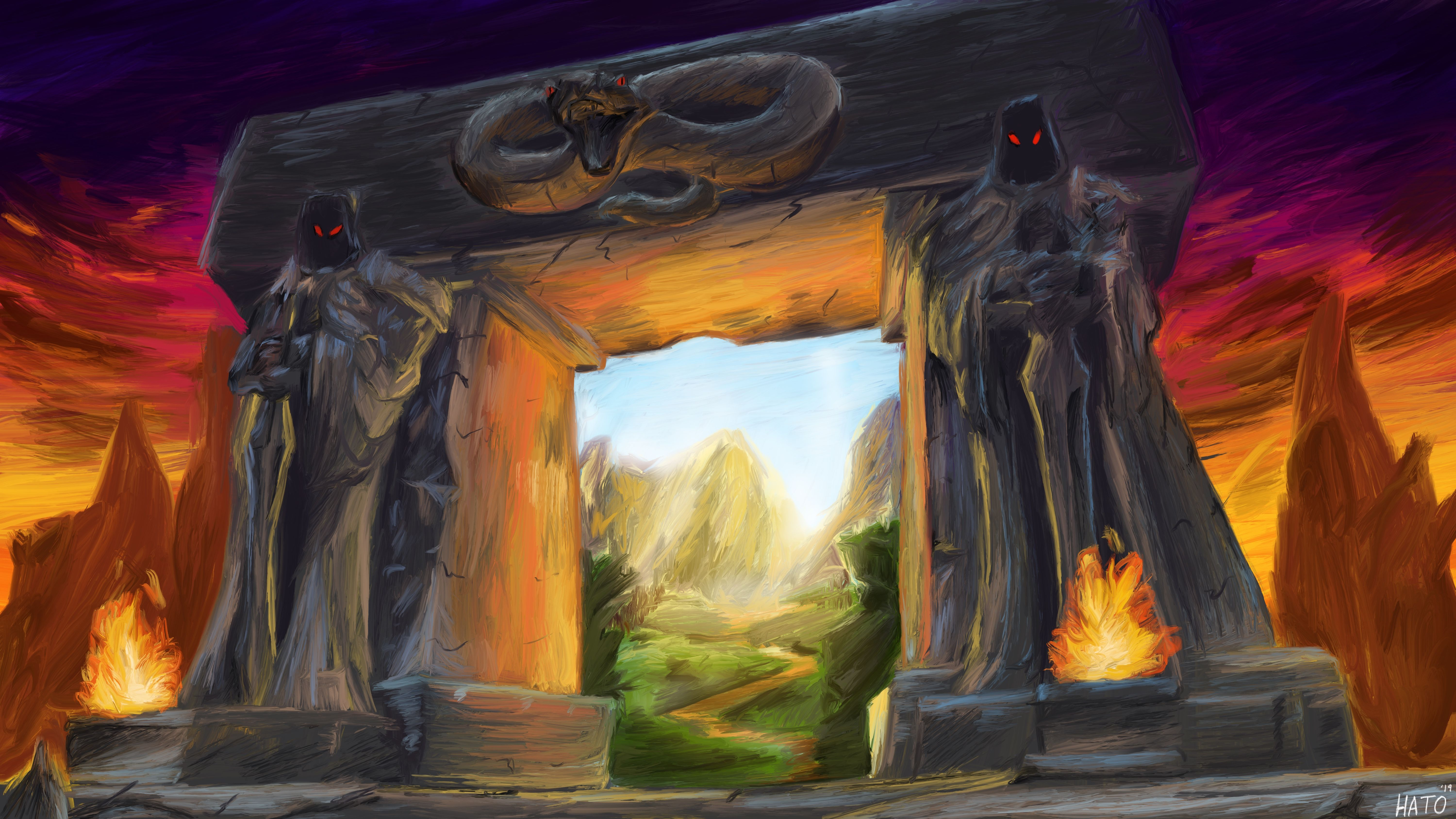 In Celebration of WoW Classic a Painting of the Login