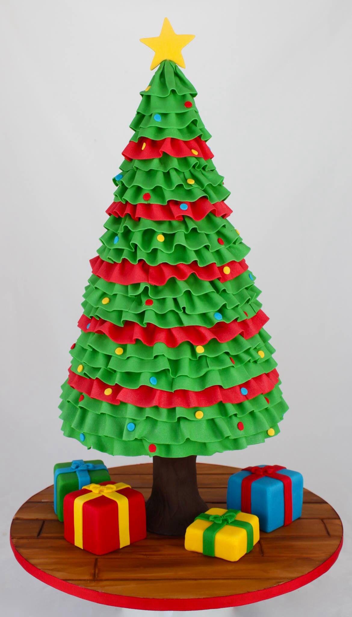 Amazing Christmas Tree Cake Modelage Pinterest