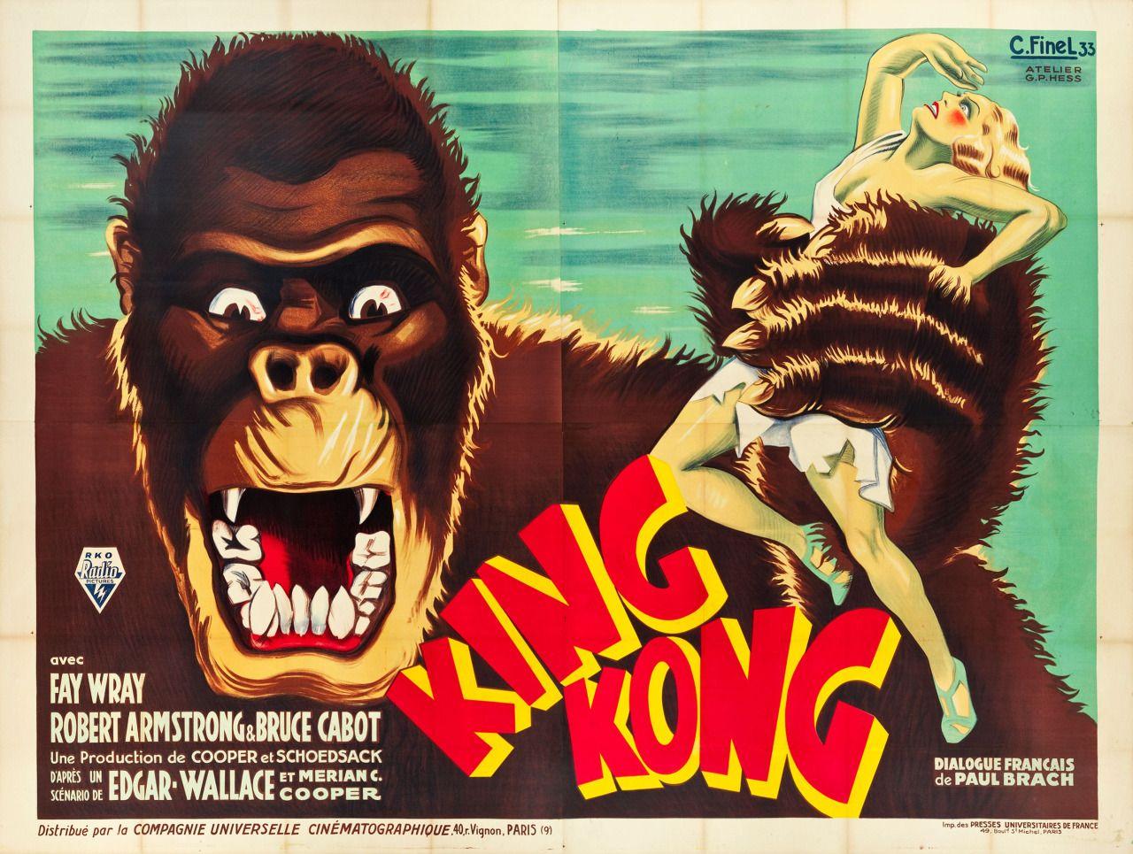 King Kong Movie Poster 1933 King Kong 1933 King Kong Movie King Kong