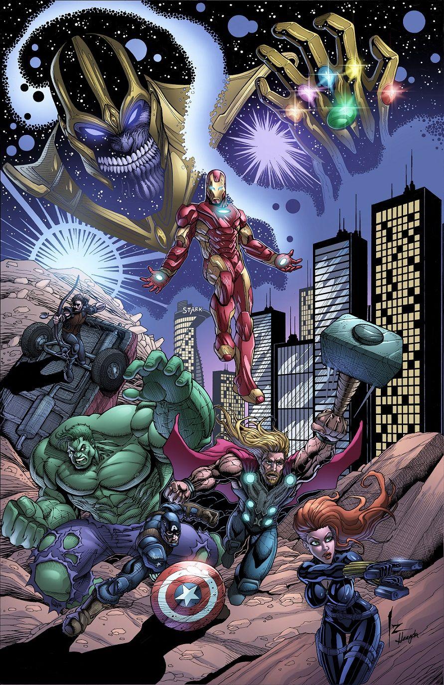 #Avengers #Fan #Art. (Avengers Vs Thanos) By: Izik Bell. (THE * 5 * STÅR *  ÅWARD * OF: * AW YEAH, IT'S MAJOR ÅWESOMENESS!!!™)[THANK U 4 PINNING!!!