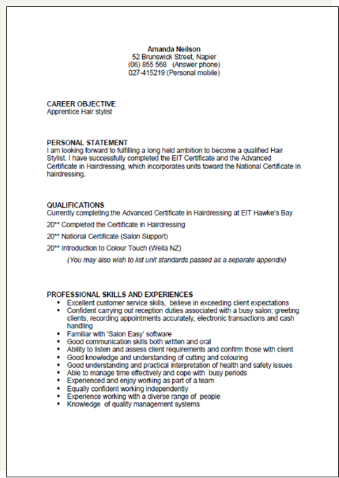 Cv Template New Zealand Resume templates, Resume format