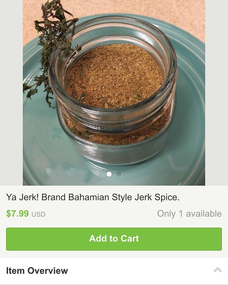 Etsy ya jerk! Bahama jerk seasonings