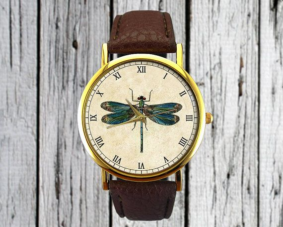 Vintage Dragonfly Watch