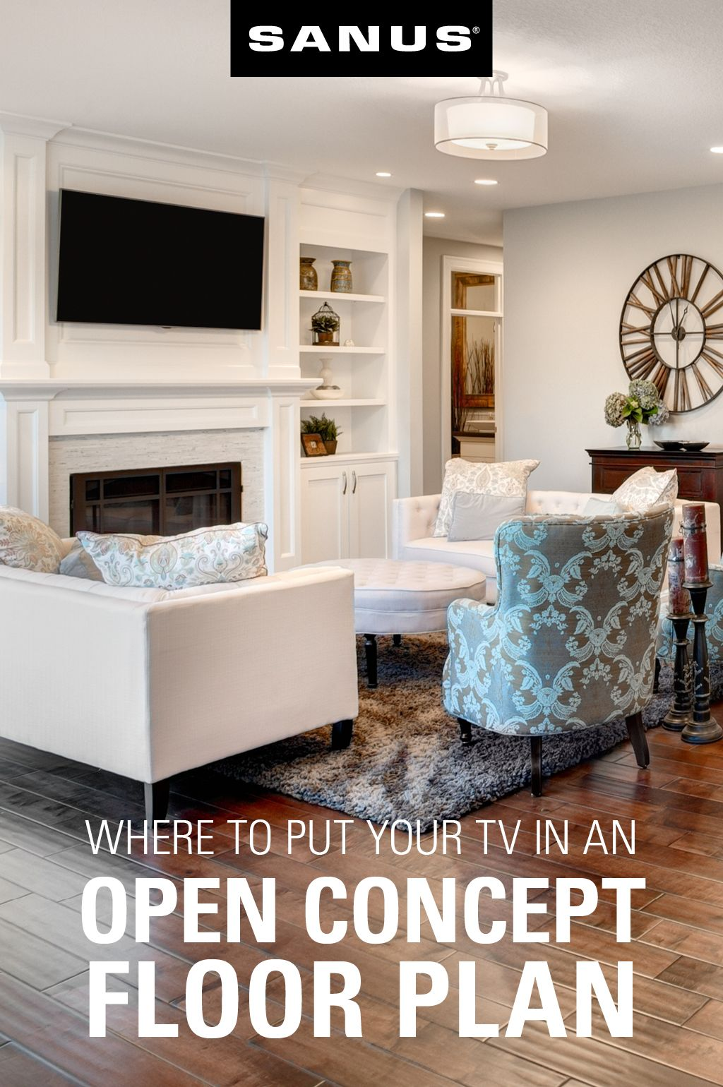 Where To Put Your Tv In An Open Concept Floor Plan Open Concept Floor Plans Open Concept Floor Plans