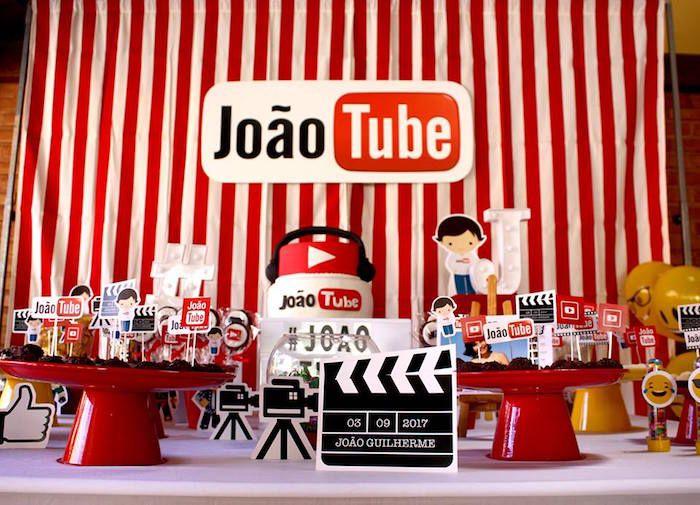 Youtube Themed Birthday Party Kara S Party Ideas Youtube Party Youtube Birthday Boy Birthday Party Themes