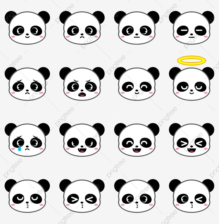 Cute Panda Bear Emoji Collection Set 1 Panda Clipart Panda Emoji Png Transparent Clipart Image And Psd File For Free Download Bear Emoji Panda Emoji Emoji