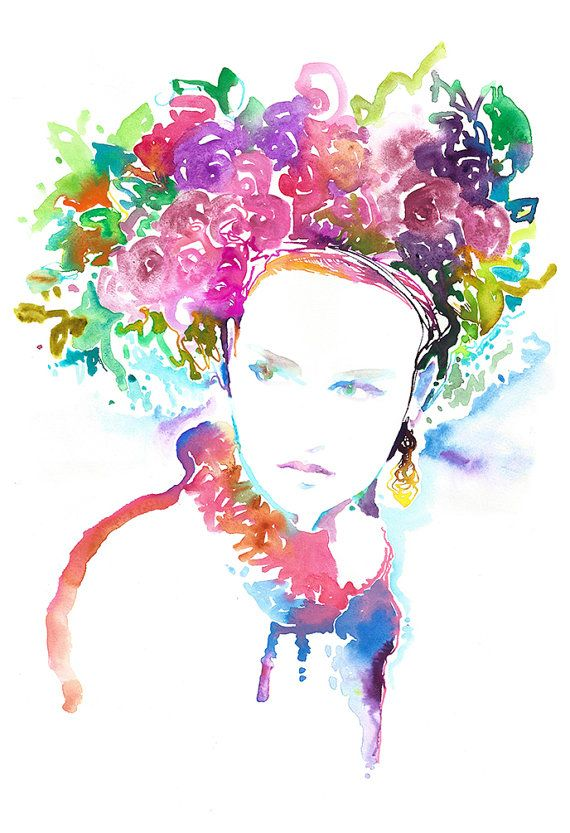 Watercolor Print Print Of Watercolor Fashion Illustration By Cate