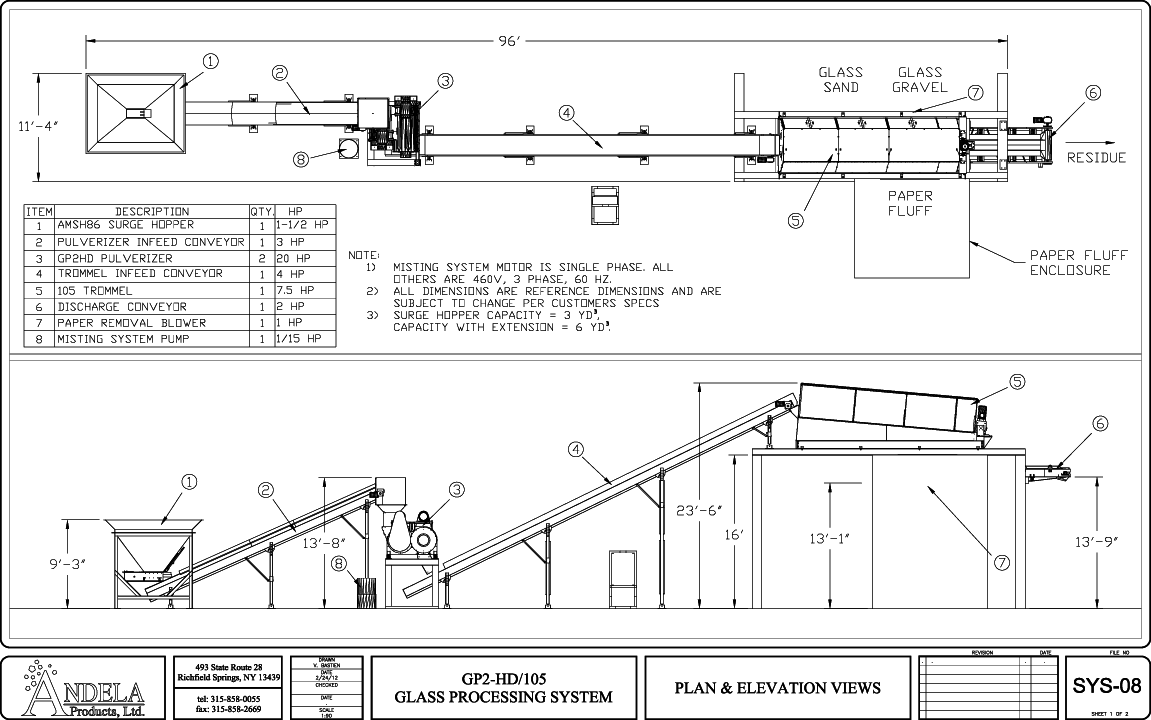 single stream recycling system plan layout [ 1151 x 720 Pixel ]