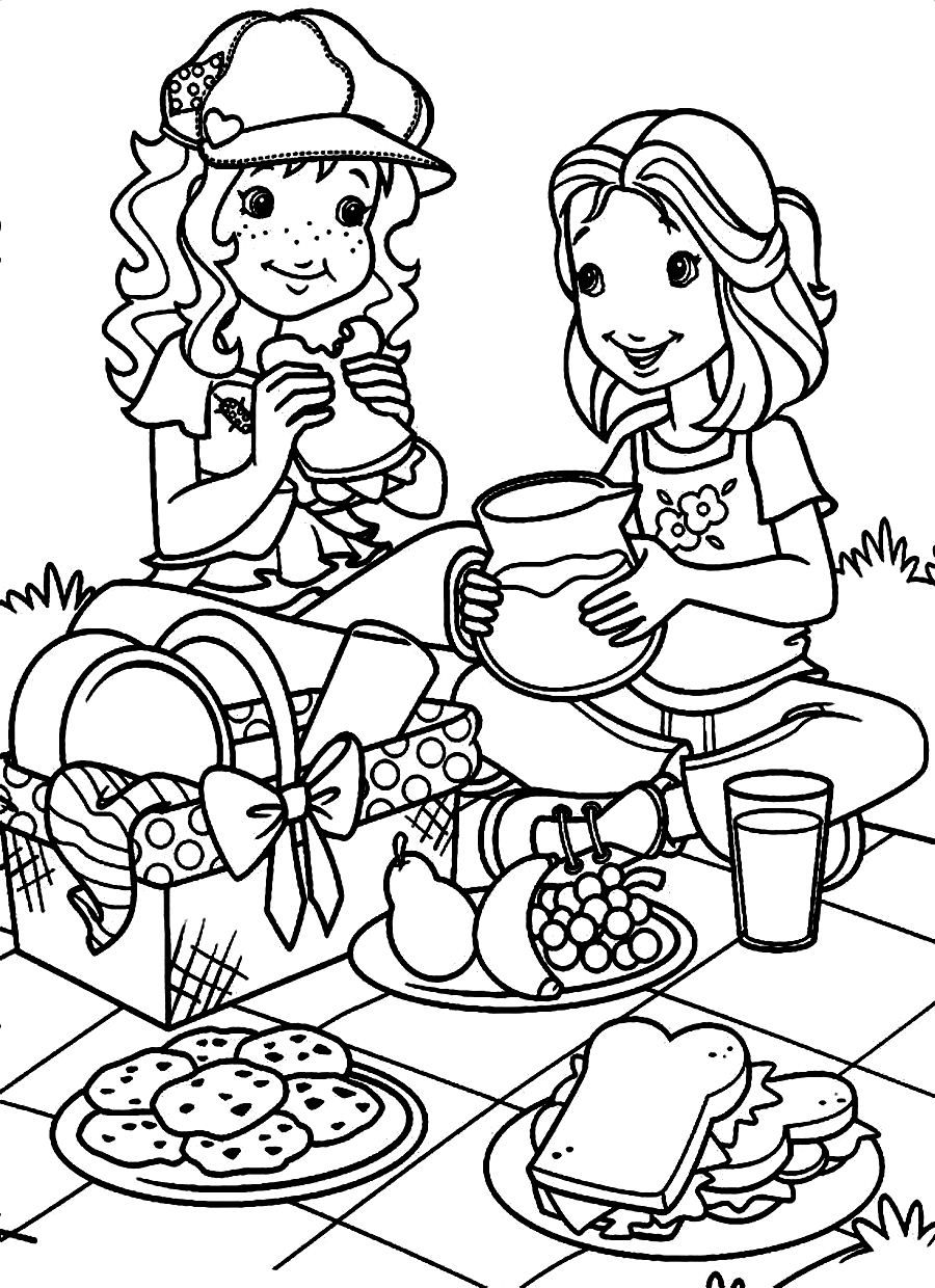 picnic coloring pages or download holly hobbie . | Happy National ...