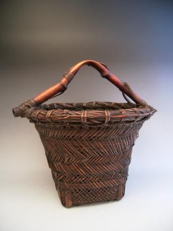 Japanese Early 20th Century Bamboo Flower Basket Www