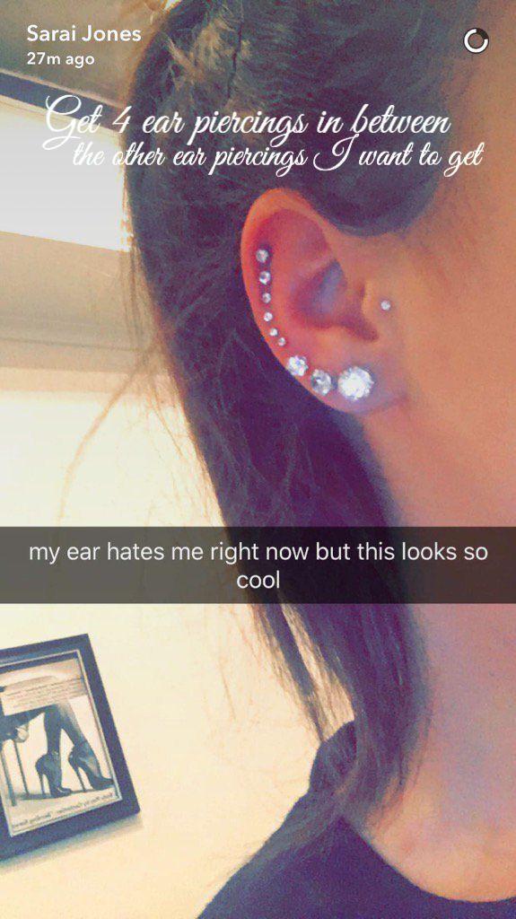 Ear piercings tragus cool piercing tattoo ideas peircings also chart earrings pinterest rh
